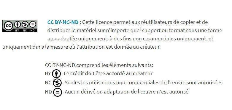 Exemple de licence Creative Commons