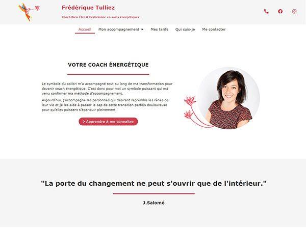 Aperçu du site Frédérique Tulliez, coach énergétique