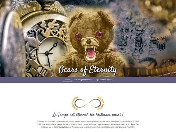 aperçu du site Gears of Eternity