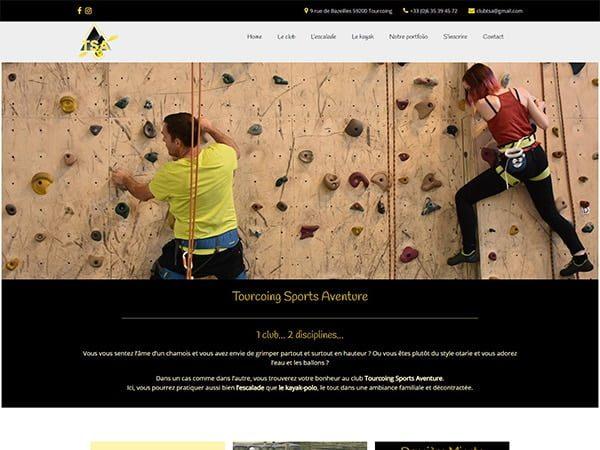 Aperçu du site Tourcoing Sports Aventure